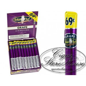 White Owl Cigarillos Grape 69